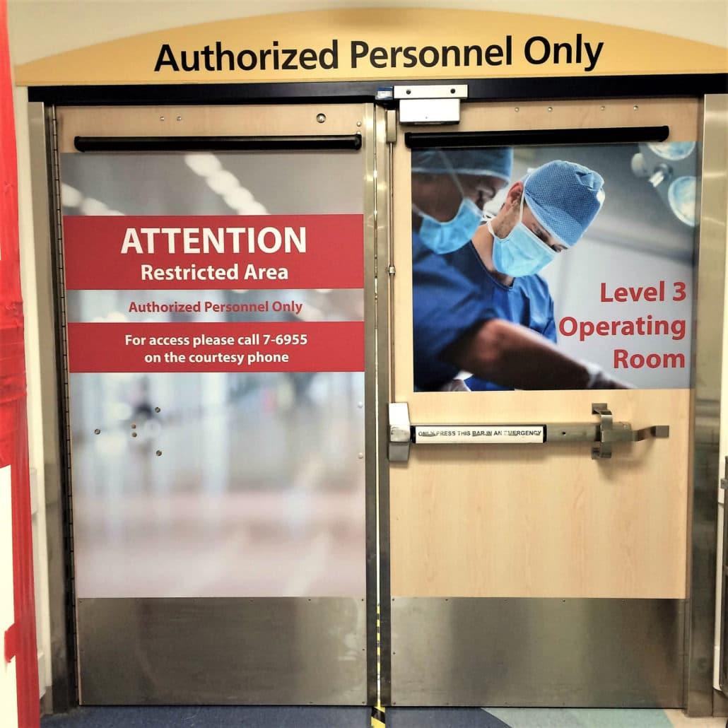 Wayfinding Door Decals University Alberta 02